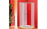 SIGMA čtvrtkruhová sprchová zástěna 900x900 mm, R550, 1 dveře, sklo Brick