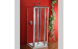 Sigma třístěnný čtvercový sprchový kout 800x800x800mm L/P skládací dveře,Brick