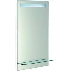 Zrcadlo s LED osvětlením 50x80cm, skleněná polička, kolíbkový vypínač
