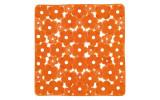MARGHERITA podložka do sprchového koutu 51,5x51,5cm s protiskluzem, PVC,oranžová
