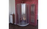 LUCIS LINE čtvrtkruhová sprchová zástěna, 1000x1000mm, R550, čiré sklo