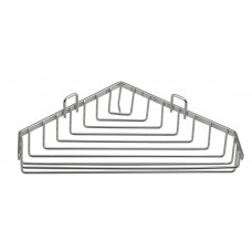CHROM LINE drátěná rohová mýdlenka, chrom