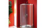 SIGMA čtvrtkruhová sprchová zástěna 800x800 mm, R550, dvoje dveře, sklo Brick