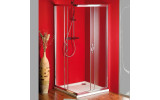 SIGMA čtvercová sprchová zástěna, 800x800 mm, sklo Brick