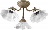 NAPOLI stropní svítidlo, 3xE14,40W, 230V, keramické stínítko, bronz