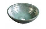 ATTILA keramické umyvadlo, průměr 42,5 cm, zelená měď