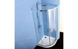 EASY LINE čtvrtkruhová sprchová zástěna 800x800mm, čiré sklo