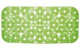MARGHERITA podložka do vany 34,5x72cm s protiskluzem, PVC, zelená