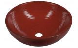 ATTILA keramické umyvadlo, průměr 42,5 cm, tomatová červeň