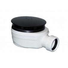 Vaničkový sifon, průměr otvoru 90 mm, DN40, nízký, krytka černá mat