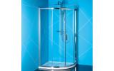EASY LINE čtvrtkruhová sprchová zástěna 900x800mm, čiré sklo