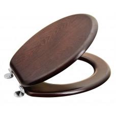 AQUALINE WC sedátko, HDF, ořech