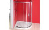 SIGMA čtvrtkruhová sprchová zástěna 1200x900 mm, R550, 2 dveře, L/R, čiré sklo
