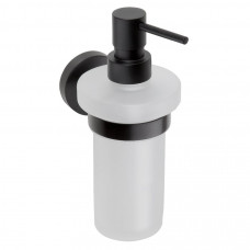X-ROUND BLACK dávkovač mýdla, mléčné sklo, 250ml, černá (104109010)