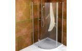 LEGRO čtvrtkruhová sprchová zástěna jednokřídlá 900x900mm, čiré sklo