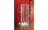Sigma třístěnný obdélníkový sprchový kout 900x800x800mm L/P skládací dveře,Brick