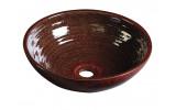 ATTILA keramické umyvadlo, průměr 42,5 cm, purpurově červená