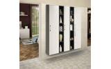 Sestava doplňkových skříněk ESPACE, vysoké, bílá/borovice rustik