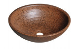 ATTILA keramické umyvadlo, průměr 42,5 cm, terakota hnědá