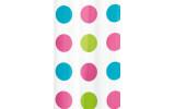 Sprchový závěs 180x180cm, vinyl, růžové puntíky