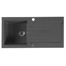 Granitový vestavný dřez s odkapem 86x43,5 cm, černá