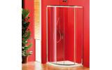 SIGMA čtvrtkruhová sprchová zástěna 1000x1000 mm, R550, 1 dveře, L/R, čiré sklo