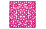 MARGHERITA podložka do sprchového koutu 51,5x51,5cm s protiskluzem, PVC, růžová