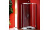 SIGMA čtvrtkruhová sprchová zástěna 800x800 mm, R550, dvoje dveře, čiré sklo