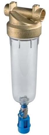 """ATLAS Vodní filtr SENIOR """"K"""" 1"""" 2P - 10"""" BX 45°C PN10 mosazná hlava, odkalení 3110725"""
