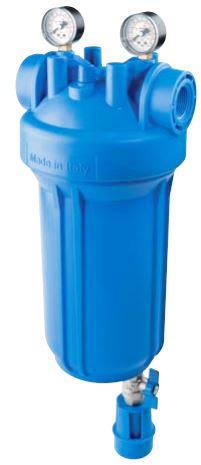 """Vodní filtr ATLAS Senior BIG M 1"""" 2P SX - s odkalením a manometry 1700736"""