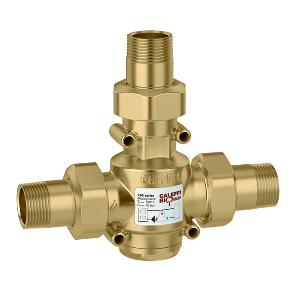 """CALEFFI 280 Protikondenzační ventil 5/4"""" (60°C) PN10 - LADOMAT bez čerpadla 280-54-60"""
