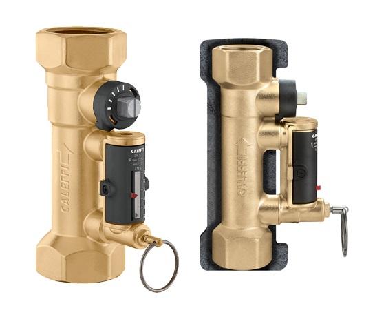 """CALEFFI 132 Vyvažovací ventil 1/2"""" s průtokoměrem a izolací PN10 132-12"""