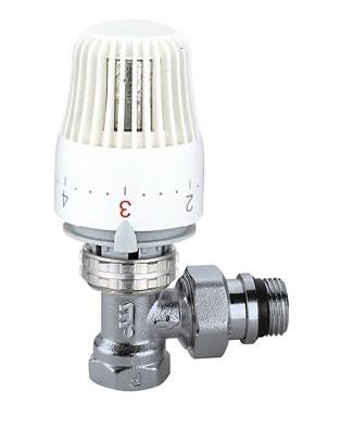 """CALEFFI 220S Termostatický radiátorový ventil rohový DN10 - 3/8"""" PN10 s hlavicí 403 56220S38"""