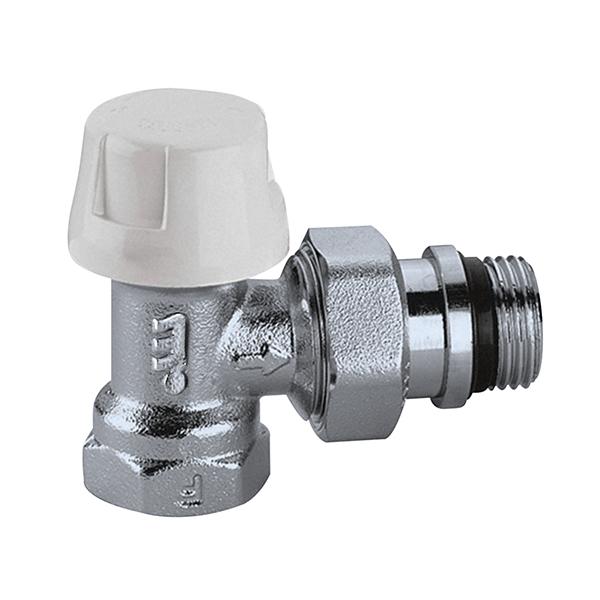 """CALEFFI 220 Termostatický ventil radiátorový rohový DN10 - 3/8"""" PN10, Tmax 100°C 5622038"""