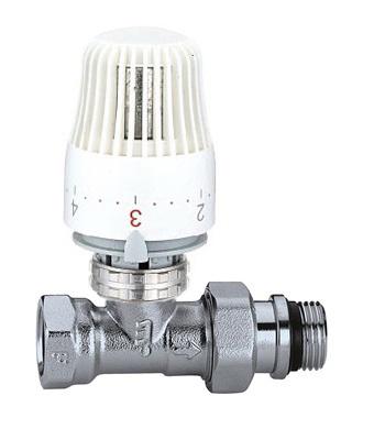 """CALEFFI 221S Termostatický radiátorový ventil přímý DN10 - 3/8"""" PN10 s hlavicí 403 56221S38"""