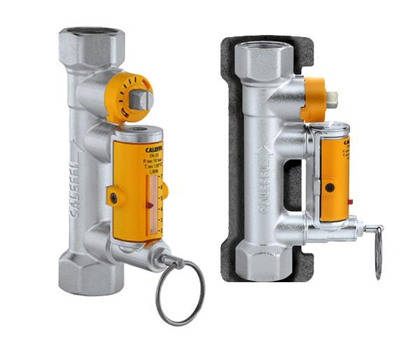 """CALEFFI 258 Vyvažovací ventil SOLAR 3/4"""" s průtokoměrem a izolací PN10 258-34"""