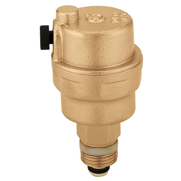 """CALEFFI 5025 1/2"""" Automatický plovákový odvzdušňovací ventil se zpětnou klapkou 502512"""