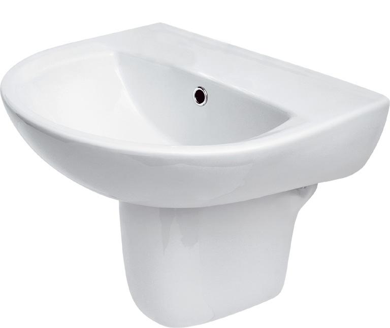Umyvadlo PRESIDENT 45cm bez otvoru - K08-001 CERSANIT K08-001