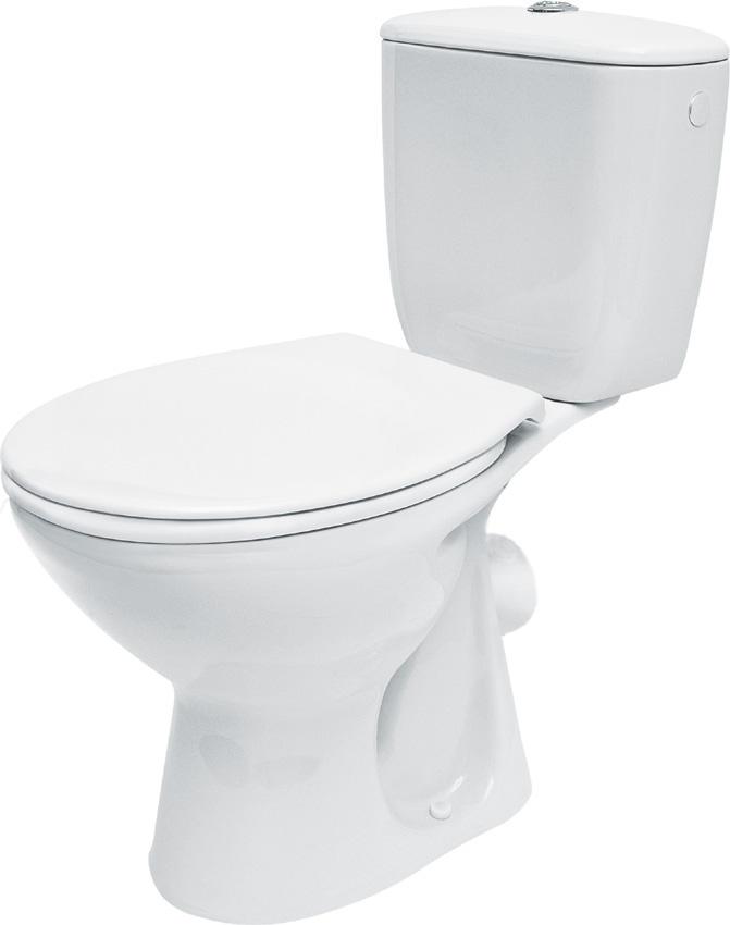 WC Kombi PRESIDENT - Zadní rovný, včetně sedátka - K08-028 CERSANIT K08-028