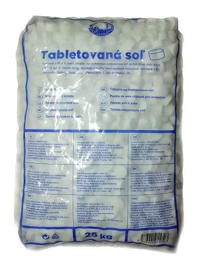 Tabletová regenerační sůl - 25 kg pro úpravny a změkčovače vody REGSUL