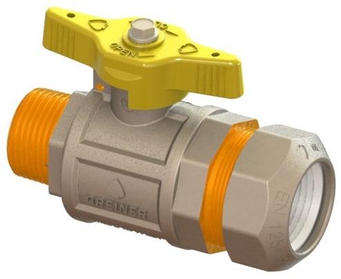 """Plynový kohout na PE s vnějším závitem 1/2"""" x 20mm 6152.24.00.050"""