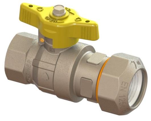 """Plynový kohout na PE s vnitřním závitem 1/2"""" x 20mm 6152.45.00.050"""