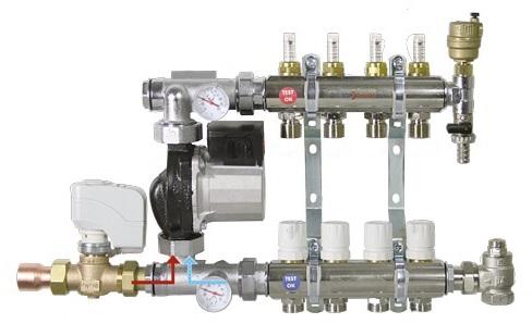 Rozdělovač podlahového vytápění 2-cestný, Ekvitermní řízení, čerpadlo standard TOP559B-2