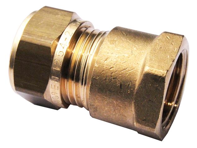 """Mosazný svěrný přechod s vnitřním závitem 3/8"""" x 15 mm 1N0002H031500G"""