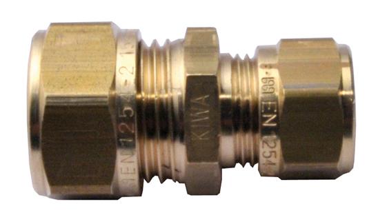 Mosazná svěrná spojka redukovaná 15 mm x 10 mm 1N0003H151000G