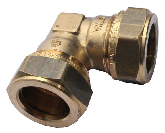 Mosazné svěrné koleno 15 mm 1N0020H151500G