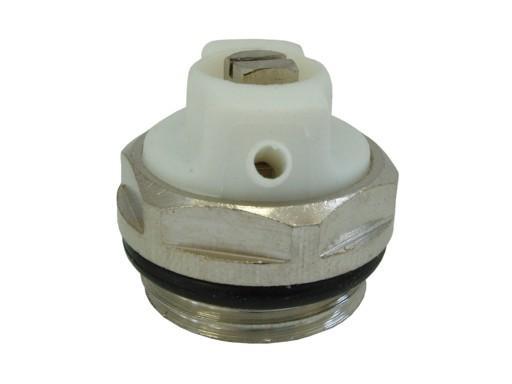 """V&G Valogin RADIK Radiátorový odvzdušňovací ventil 1/2"""" s těsněním - NIKL 506112"""