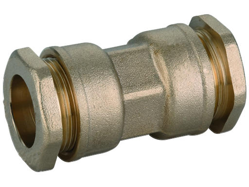 PE SPOJKA DN32 x 32 MOSAZNÁ - Svěrná tvarovka na PE trubky, PN16 480532