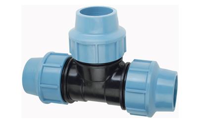 PE T-kus DN32 x 32 x 32 Plastová svěrná spojka na polyetylen, PN16 470132