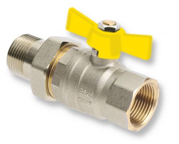 """V&G Valogin Plynový kulový kohout se šroubením MF 1/2"""" MOTÝL, MOP5 320012"""